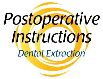 Dental Extraction Postoperative Instructions