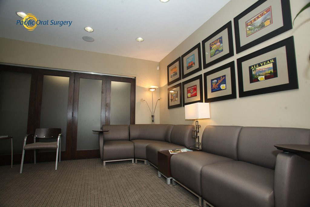 Office tour of Waiting Room Pacific Oral Surgery